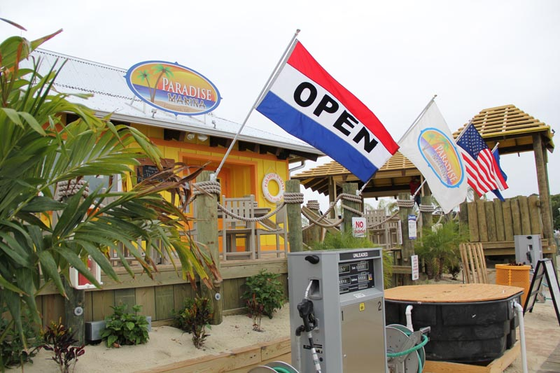 Fuel docks, bait and tackle store